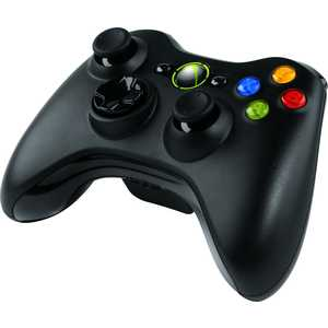 Геймпад  Microsoft XBox 360 Wireless Controller, black (NSF-00002)