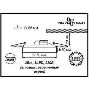 Купить точечный светильник Novotech 357051 (119690) в Москве, в Спб и в России