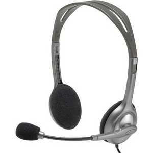 Logitech Stereo Headset H110 (981-000271) logitech h110 stereo headset headphone w mic noise cancelling