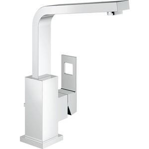 Смеситель для раковины Grohe Eurocube поворотный излив с донным клапаном (23135000) смеситель для раковины grohe eurocube 2312700e с донным клапаном и ограничением расхода воды