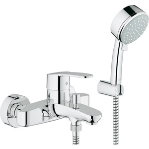 Смеситель для ванны Grohe Eurostyle cosmopolitan с душевым набором (33592002)  grohe eurostyle cosmopolitan 33637002 для ванны с душем
