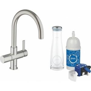 Смеситель для кухни Grohe Blue суперсталь (33249DC0) фильтр сменный для водных систем grohe blue 1500 л 40430001