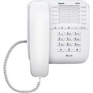 Проводной телефон Gigaset DA510 white дополнительная трубка gigaset a220h для a220