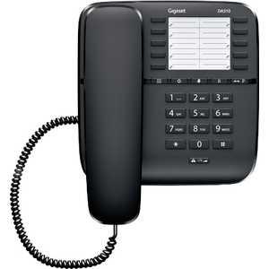 Проводной телефон Gigaset DA510 black дополнительная трубка gigaset a220h для a220