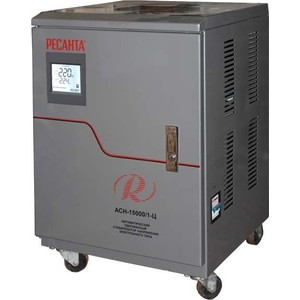 Стабилизатор напряжения Ресанта АСН-15 000/1-Ц стабилизатор электронного типа настенный асн 10 000 н 1 ц lux ресанта