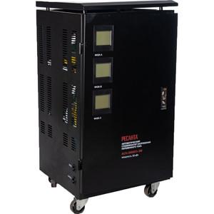 Стабилизатор напряжения Ресанта АСН-30000/3-ЭМ стабилизатор напряжения ресанта асн 20000 3 эм