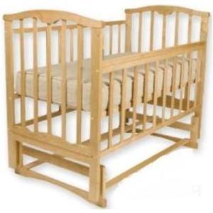 Кроватка Агат Золушка 3 поперечный маятник (светлая) 52100 обычная кроватка агат 52101 золушка 3 орех