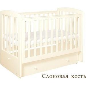 Кроватка Кубаньлесстрой Ромашка поперечный маятник/ящик (слоновая кость) АБ 16.2