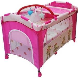 Фото: Манеж-кровать Bebe Planete ''Slip and Play'' LC (розовый)
