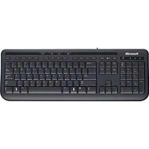 Фото - Клавиатура Microsoft Wired Keyboard 600 black USB (ANB-00018) клавиатура беспроводная microsoft all in one media keyboard n9z 00018 usb черный