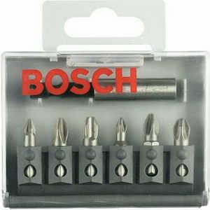 Набор бит Bosch 6шт + универсальный держатель (2.607.001.937)