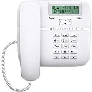 Проводной телефон Gigaset DA610 white дополнительная трубка gigaset a220h для a220