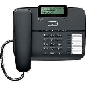 Проводной телефон Gigaset DA710 Black дополнительная трубка gigaset a220h для a220