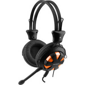 Гарнитура A4Tech HS-28 orange-black a4tech hs 60 в интернет магазине