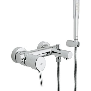 Смеситель для ванны Grohe Concetto с душевым гарнитуром (32212001) смеситель для ванны grohe eurosmart new с душевым набором настенный держатель ручной душ хром