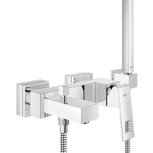 Смеситель для ванны Grohe Eurocube с душевым набором (23141000) смеситель для ванны grohe eurosmart new с душевым набором настенный держатель ручной душ хром