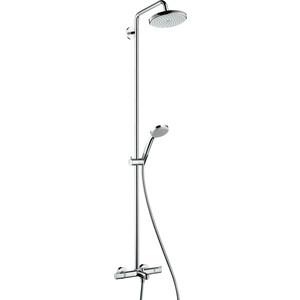 Душевой набор Hansgrohe Croma 220 showerpipe reno с термостатом (27223000) душевой трап pestan square 3 150 мм 13000007