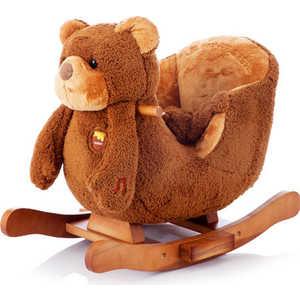 Jolly Ride Качалка меховая ''Мишка'' Rock My Baby коричневая YR 2522 H
