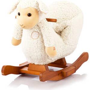 Качалка меховая Jolly Ride Овечка Rock My Baby белая JR 2521