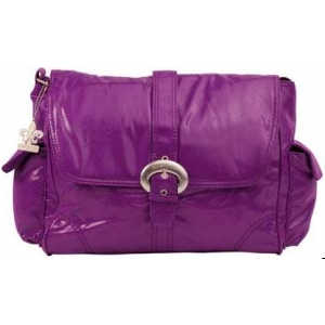 Сумка для мамы Kalencom Buckle bag fire and ice (grape)