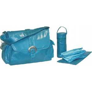 Сумка для мамы Kalencom Buckle bag fire and ice (turquoise)