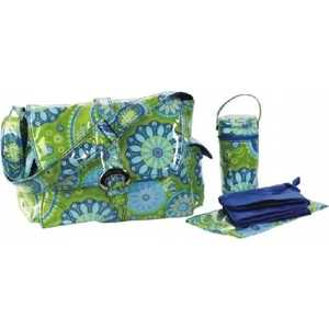 Сумка для мамы Kalencom Buckle bag gypsy paisley (green lamin)