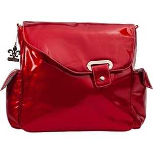 Сумка для мамы Kalencom Flap bag irredescent pattent (red)