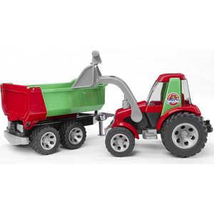 Трактор Bruder с ковшом и прицепом ''Roadmax'' 20-116