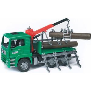 Bruder Лесовоз MAN с портативным краном и брёвнами 02-769 машины bruder лесовоз scania с портативным краном и брёвнами