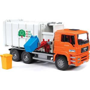 Bruder Мусоровоз MAN (цвет кузова серый, кабина - оранжевый) 02-761