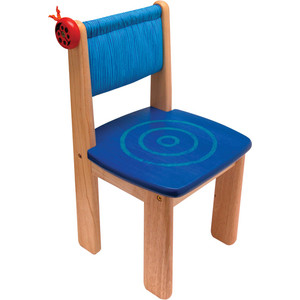 Детский стульчик I'm toy деревянный (голубой) 42022BL