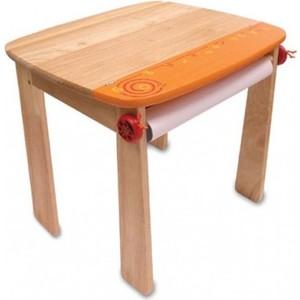Фотография товара i'm toy Стол для рисования оранжевый с держателем для рулона бумаги и контейнером (139874)