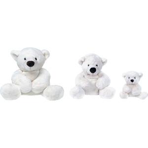 Gulliver Медведь белый, лежачий 43см 7-43061-1 gulliver трусы gulliver 11500gbc9202 белый орнамент