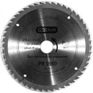Диск пильный Prorab 210х30мм 48зубьев (PR0980) цена