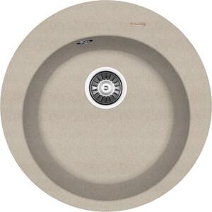 Мойка кухонная Florentina Никосия D510 песочный FG (20.135.B0510.107) cy1s32 500 smc type cy1s cy1b cy1r cy1l series 32mm bore 500mm stroke slide bearing magnetically coupled rodless cylinder