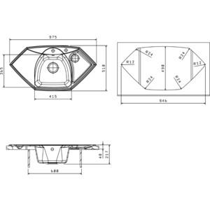 Мойка кухонная Florentina Сардиния песочный FG (20.150.D0980.107) от ТЕХПОРТ