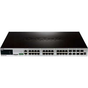 Коммутатор D-Link DGS-3420-28TC коммутатор d link dgs 3120 48tc b1ari управляемый 48 портов 10 100 1000mbps 4 combo 10 100 1000base t sfp 2x10g cx4 for uplinks