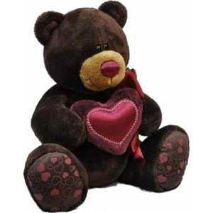Orange Медведь мальчик Choco с сердцем 25 см C003/25