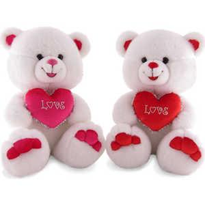 Lava Медведь белый с сердцем малый музыкальный 25 см Л284А