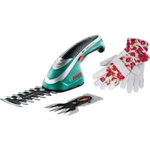 Аккумуляторные ножницы Bosch Isio Set + перчатки Laura Ashley