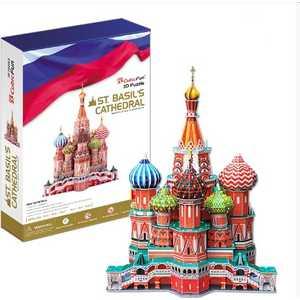 Объемный 3D пазл CubicFun ''Собор Василия Блаженного'' MC093h