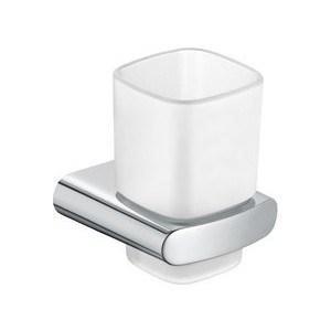 Стакан Keuco Elegance с держателем (11650019000) термостат для душа keuco elegance 51626010100