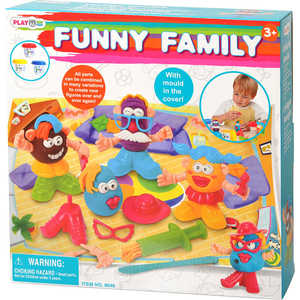Набор пластилина Playgo Забавная семейка 8648 всё для лепки playgo набор 8636