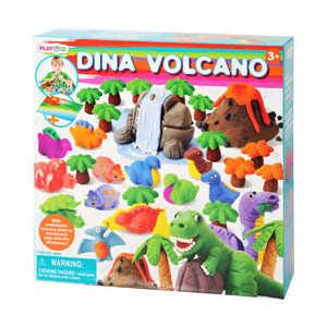 Набор пластилина Playgo Динозавр 8666 всё для лепки lori пластилин классика 16 цветов