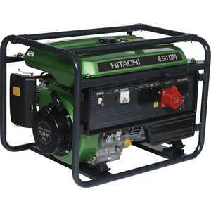 Генератор бензиновый Hitachi E50 3P бензиновый генератор hitachi e40 зр