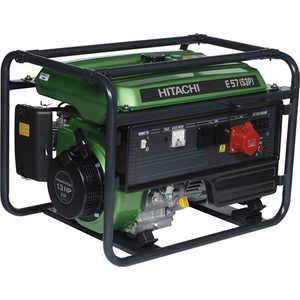 Генератор бензиновый Hitachi E57S (3P) бензиновый генератор hitachi e40 зр