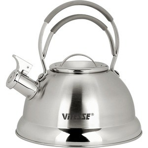 Чайник со свистком Vitesse 2.3 л VS-7800 мантоварка катунь кт 243м 24 см 4 5 л нержавеющая сталь