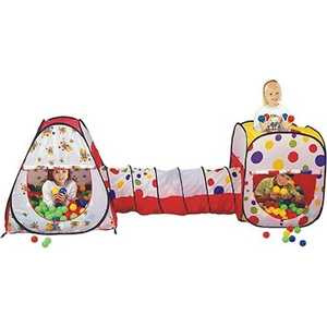 Игровой домик Calida конус/квадрат с туннелем и 200 шаров 629