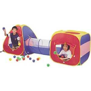 Игровой домик Calida конус/квадрат/туннель и 100 шаров 629S
