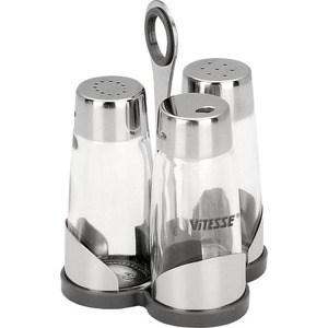Солонка и перечница с держателем для зубочисток Vitesse VS-8607 torino набор солонка и перечница